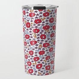 Ditsy Flora Red Travel Mug