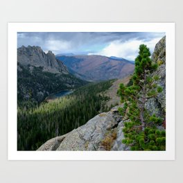 Rocky Mountain View: Odessa Lake Art Print