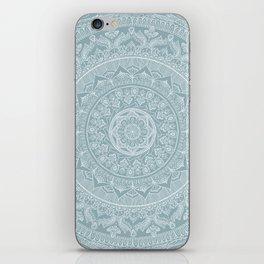 Mandala - Soft turquoise iPhone Skin