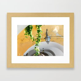 Archway with Lantern and Vine, Bellagio Framed Art Print