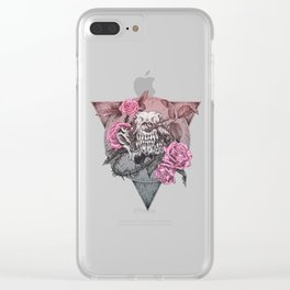 WolfSkull Pink Clear iPhone Case