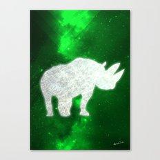 Space Rhino Canvas Print
