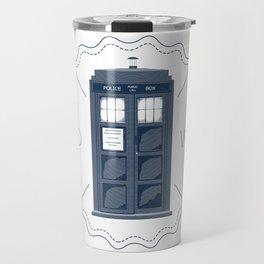 Badge inspired by Doctor Who's TARDIS  Travel Mug