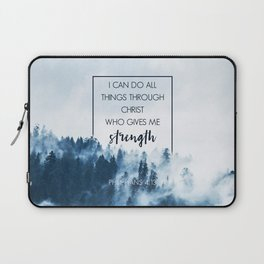 Forest Philippians 4:13 Laptop Sleeve