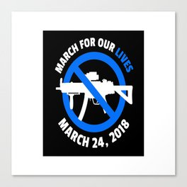 march for our lives Canvas Print