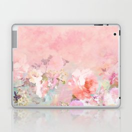 Modern blush watercolor ombre floral watercolor pattern Laptop & iPad Skin