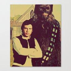 Chewbacca & Han Solo - American Gothic Canvas Print