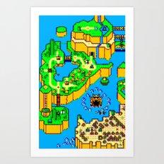 Mario World '84 Art Print