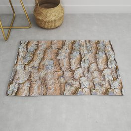 Pine bark textures Rug