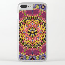 Dragonfly Mandala Clear iPhone Case