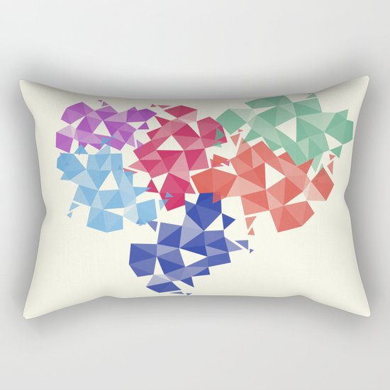 Background of geometric shapes. Colorful mosaic pattern Rectangular Pillow