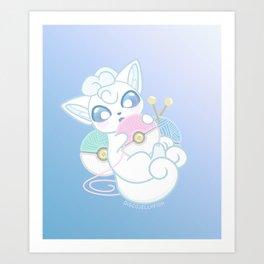 Icy Yarn Baby Art Print