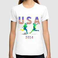 usa T-shirts featuring USA by Robin Curtiss