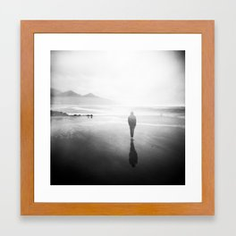 Oregon Coast Ghost - Holga Black and White Double Exposure Framed Art Print