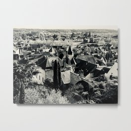 French Medieval town Metal Print