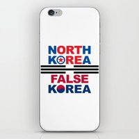 korea iPhone & iPod Skins featuring North Korea by pollylitical