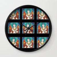 buddhism Wall Clocks featuring Buddhism by Panda Cool