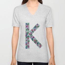 K Initial Unisex V-Neck