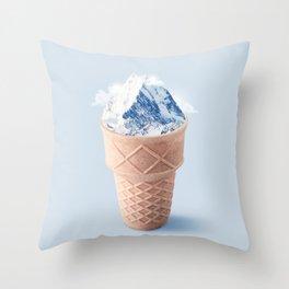 Ice cream Mountain Throw Pillow