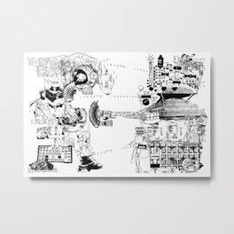 Duel - B&W Version - 2019 Series Metal Print