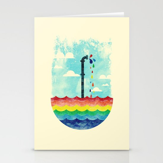 Pond Of Color Stationery Cards