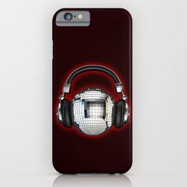 Headphone disco ball iPhone Case