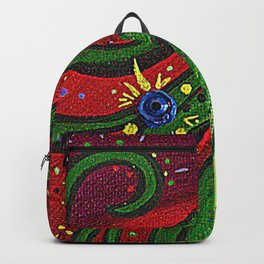 Profile of a Beautiful Woman Backpack