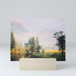 Sit and reflect Mini Art Print