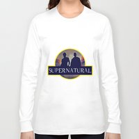 supernatural Long Sleeve T-shirts featuring Supernatural  by amirshazrin
