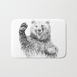 Waving Bear Bath Mat