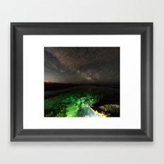 Galactic Lagoon Framed Art Print