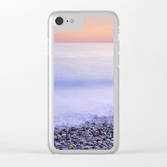 Feel. Pink calm Clear iPhone Case