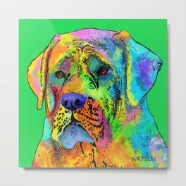 Mastiff Dog Metal Print