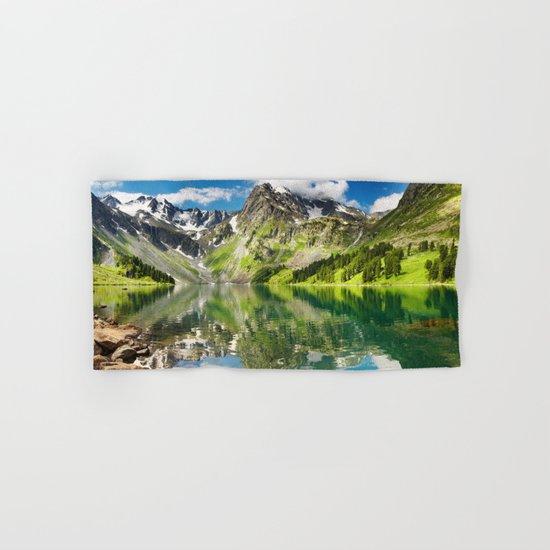Mountain reflection #lake Hand & Bath Towel