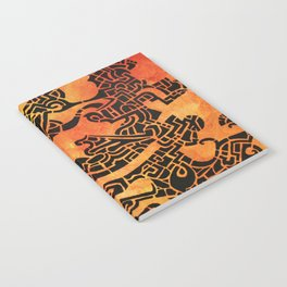 Orange Abstract Print Notebook
