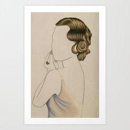 Coiffure No.1 Art Print