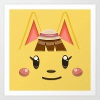 Animal Crossing Katie Art Print