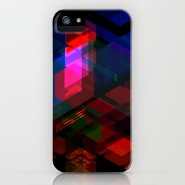 Abstract effect of hologram iPhone Case