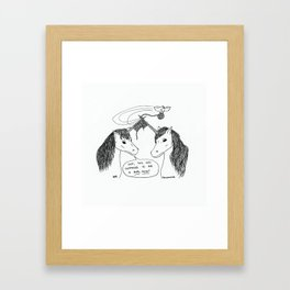 KNITTING UNICORNS Framed Art Print