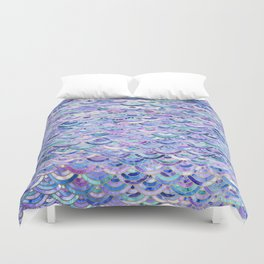 Marble Mosaic in Amethyst and Lapis Lazuli Duvet Cover