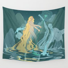 Nymph of the river Wall Tapestry