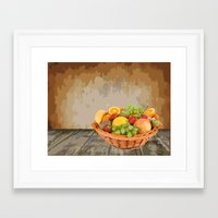 fruit Framed Art Prints featuring fruit by Shea33