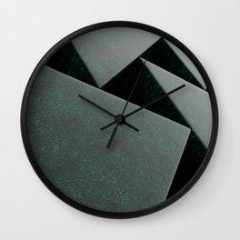 Cyan blue stone prisms pattern Wall Clock