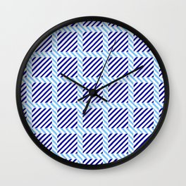 optical pattern 70 blue Wall Clock