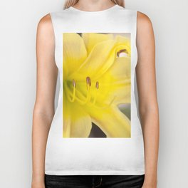 Yellow Blooming Canna Flower Nature Floral Fine Art Framed Lustre Wall Art Print  Biker Tank
