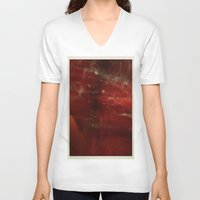 outer space V-neck T-shirts featuring Outer Space by Liv Bird