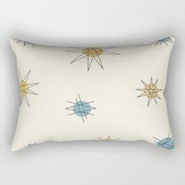 Atomic Age Sputnik Starburst Planets Rectangular Pillow