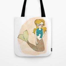 Hipster Mermaid Tote Bag