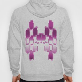 pink purple white cactus abstract geometrical art Hoody