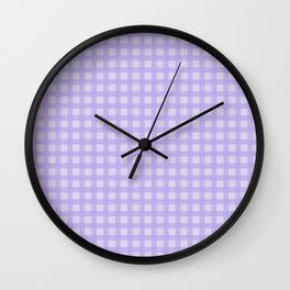 Light Purple Gingham Wall Clock